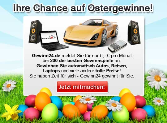 Gewinn24.de - Wir machen Sie zum Gewinner :-)